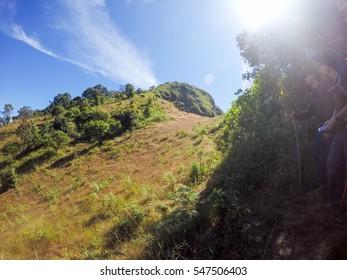 The mountain at Doi Thu Le, Tak Province, Thailand.