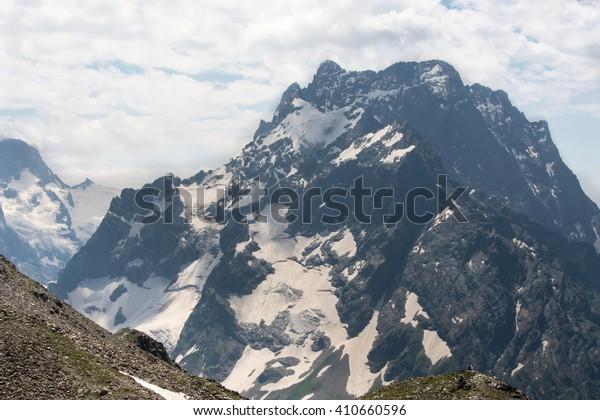 mountain Dombai, Caucasus, Russia