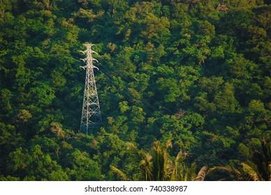 Mountain electric tower