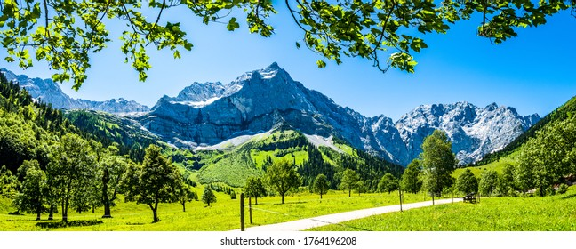 montagne à l'alm eng en autriche - spritzkarspitze