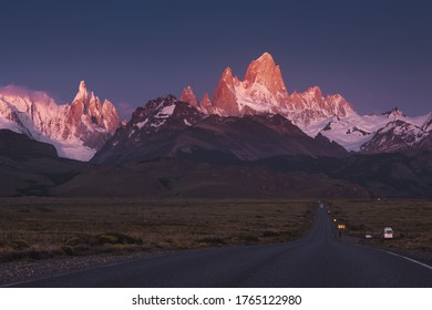 Mountain Fitzroy in sunrise light. In January 2020. From my photo-tour.