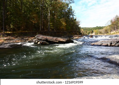 Mountain Fork River  at Beavers Bend State Park in Broken Bow Oklahoma.