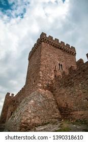 Mountain fortress (Genoese Fortress). Genoese Fortress is located in Sudak, Crimea