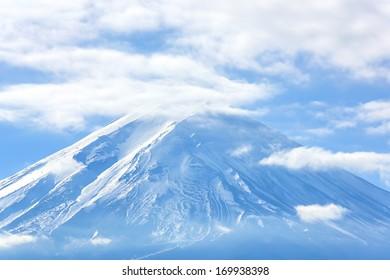 Mountain Fuji fujisan fromkawaguchigo lake at Yamanashi Japan