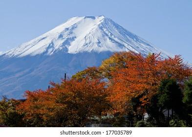 Mountain Fuji from Kawaguchi lake