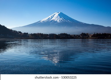 Mountain Fuji with reflection on the lake