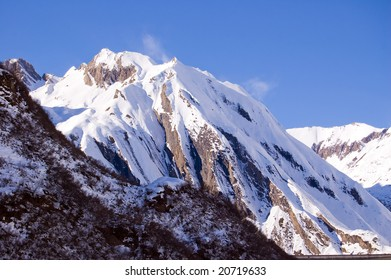 mountain full of snow and ruffled by wind, Formazza, Italy