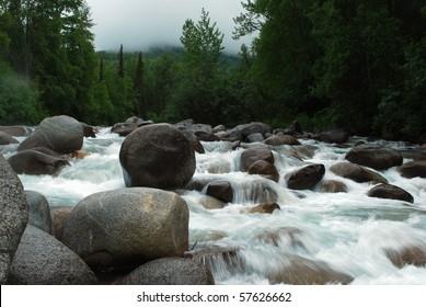 mountain gold stream time lapse