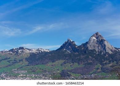 """The mountain """"Grosser Mythen"""" and """"Kleiner Mythen"""" in Switzerland"""