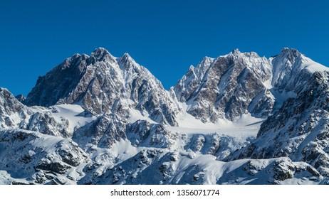 Mountain Group of Bernina (Valmalenco) Beautiful mountains in Valtellina
