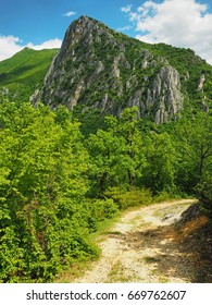 Mountain and hiking trail