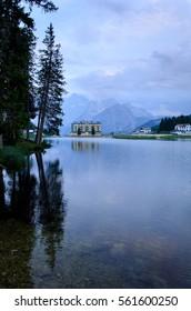 Mountain hotel, Misurina, Dolomites