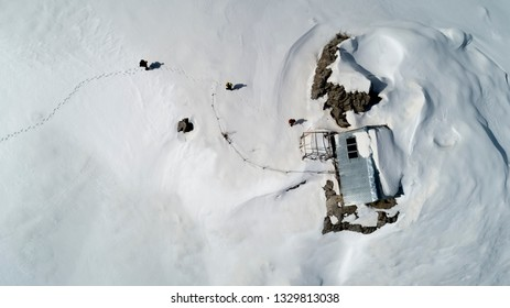 mountain house at winter camp for transportation