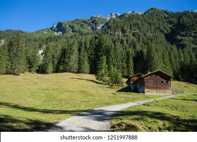 mountain hut in the alps