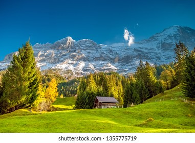 Mountain Hut below the Eiger in Grindelwald, Switzerland
