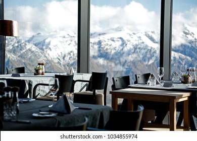 Mountain ice Q restaurant Interior Soelden Tirol Austria