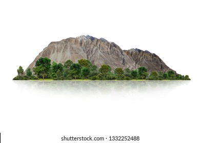 mountain isolated on white background