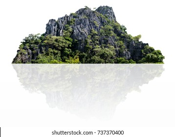 mountain isolated on a white background