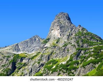 Mountain Jastrabia veza in High Tatras, Slovakia. - Shutterstock ID 483255247