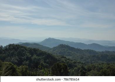 The Mountain Of Kayin State in Myanmar.