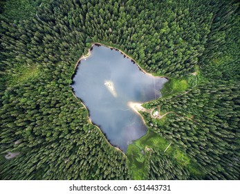 mountain lake, from above