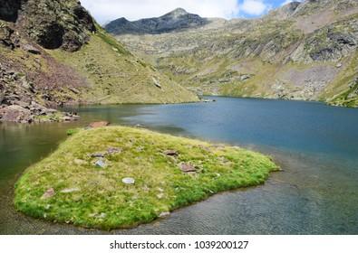 Mountain lake at the Alt Pirineu Natural park