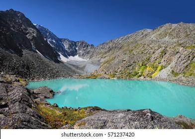 Mountain lake in Altai