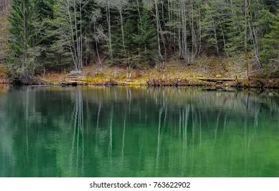 mountain lake austria
