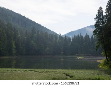 Mountain Lake in the Carpathian Mountains, Ukraine