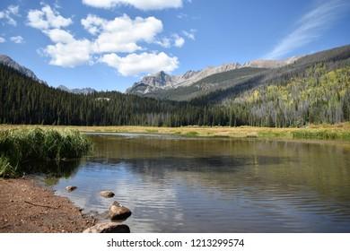 Mountain lake in Colorado, Eagle's Nest Wilderness