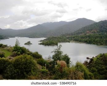 Mountain lake in Cyprus