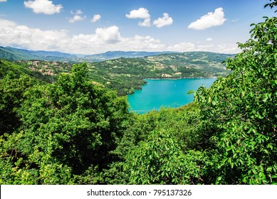 mountain lake in the forest