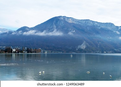Mountain lake in the french Alps (Annecy, France)