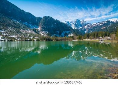 Mountain lake in Gosau in the Alps of Austria