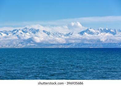 mountain lake Issyk-Kul, Kyrgyzstan
