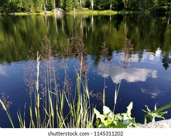 Mountain lake like a mirror