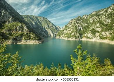 Mountain lake in Montenegro