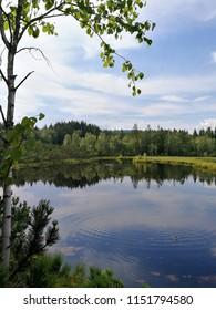 "Mountain lake namend ""Chalupska slat"" in Sumava mountains, Czech Republic, Europe"