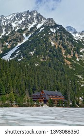 Mountain lake Popradske pleso in National Park High Tatra, Slovakia, Europe