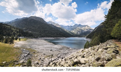 Mountain lake in the Pyrenees mountains, in the south of France