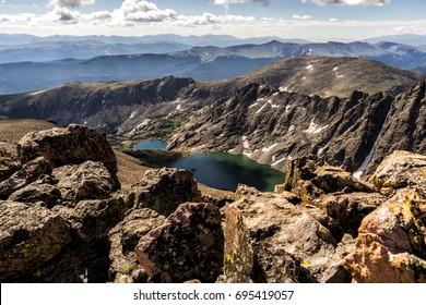 Mountain lake in the Sawatch Range of the Colorado Rocky Mountains, near Vail, Colorado