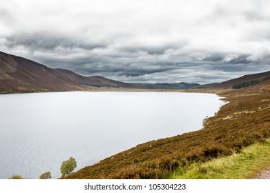 mountain lake in Scotland - Loch Muick