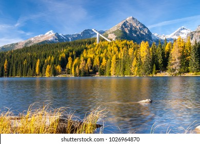 Mountain lake Strbske Pleso, High Tatras mountains, Slovakia