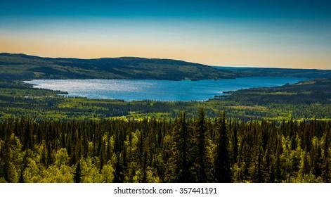 Mountain lake in Sweden