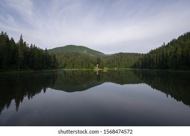Mountain Lake Synevyr. Carpathian Mountains, Ukraine