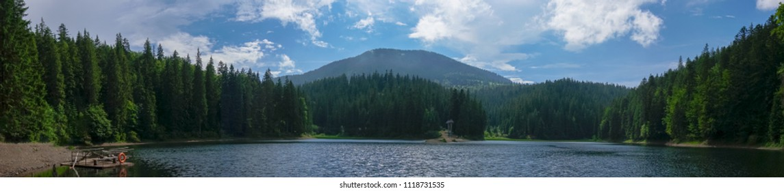 Mountain Lake Synevyr Carpathians Ukraine