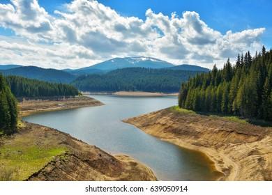 Mountain lake in Transylvania
