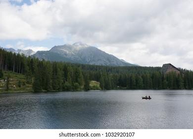 mountain and lake view. Slovakia