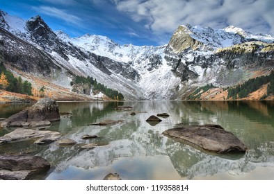 Mountain lake, West Siberia, Altai mountains