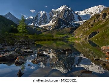 Mountain lake, West Siberia, Altai mountains, Chuya ridge.